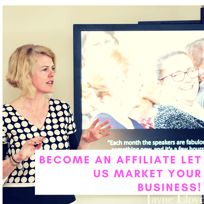 become an affiliate and promote to business women