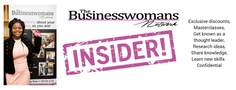 Insiders benefits for business women