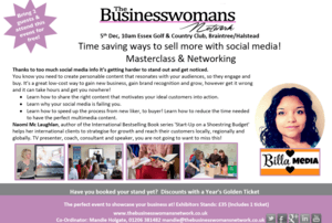 Time saving ways to sell more with social media! Masterclass & Networking Business and Success Masterclass and West Essex Networking