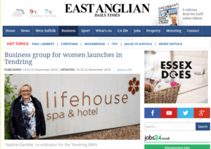 The BWN launches its network in Tendring for women in business