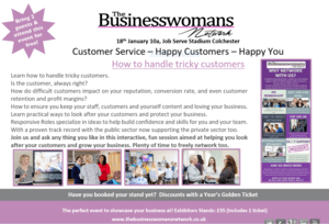 18th Jan 2019 - Customer Service Masterclass Colchester BWN