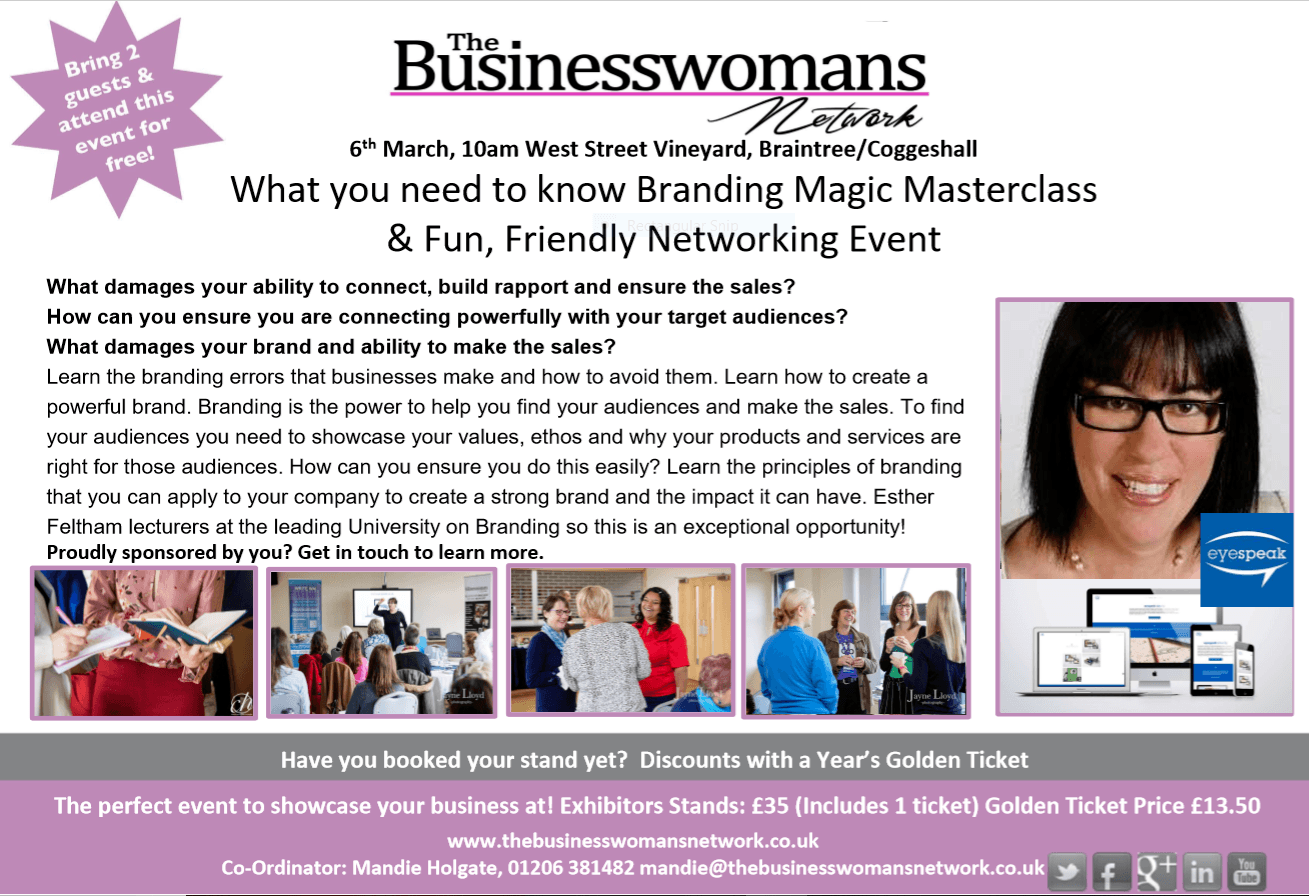 6th Mar - Branding Magic Braintree BWN Networking