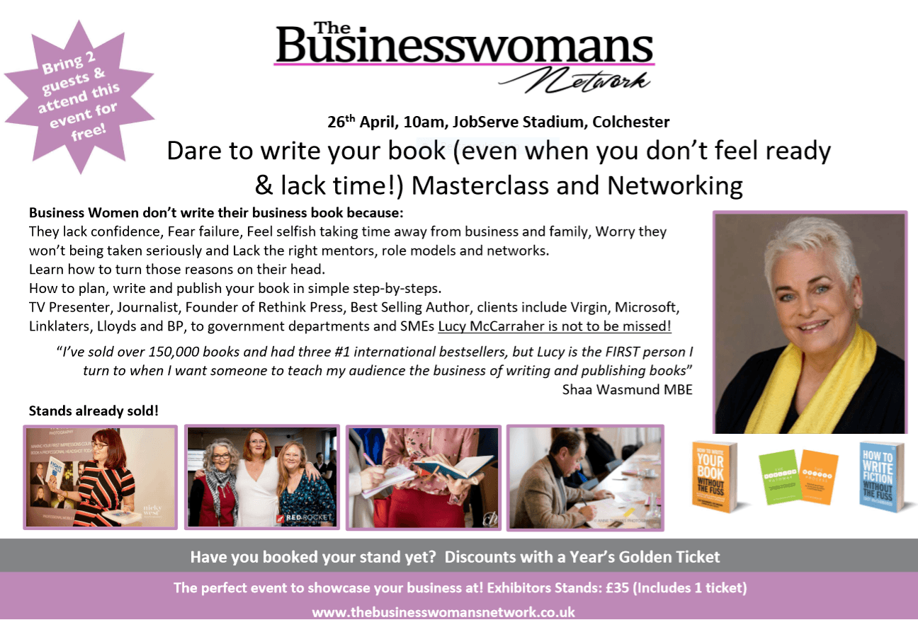 26th April - How to write your business book - Lucy McCarraher
