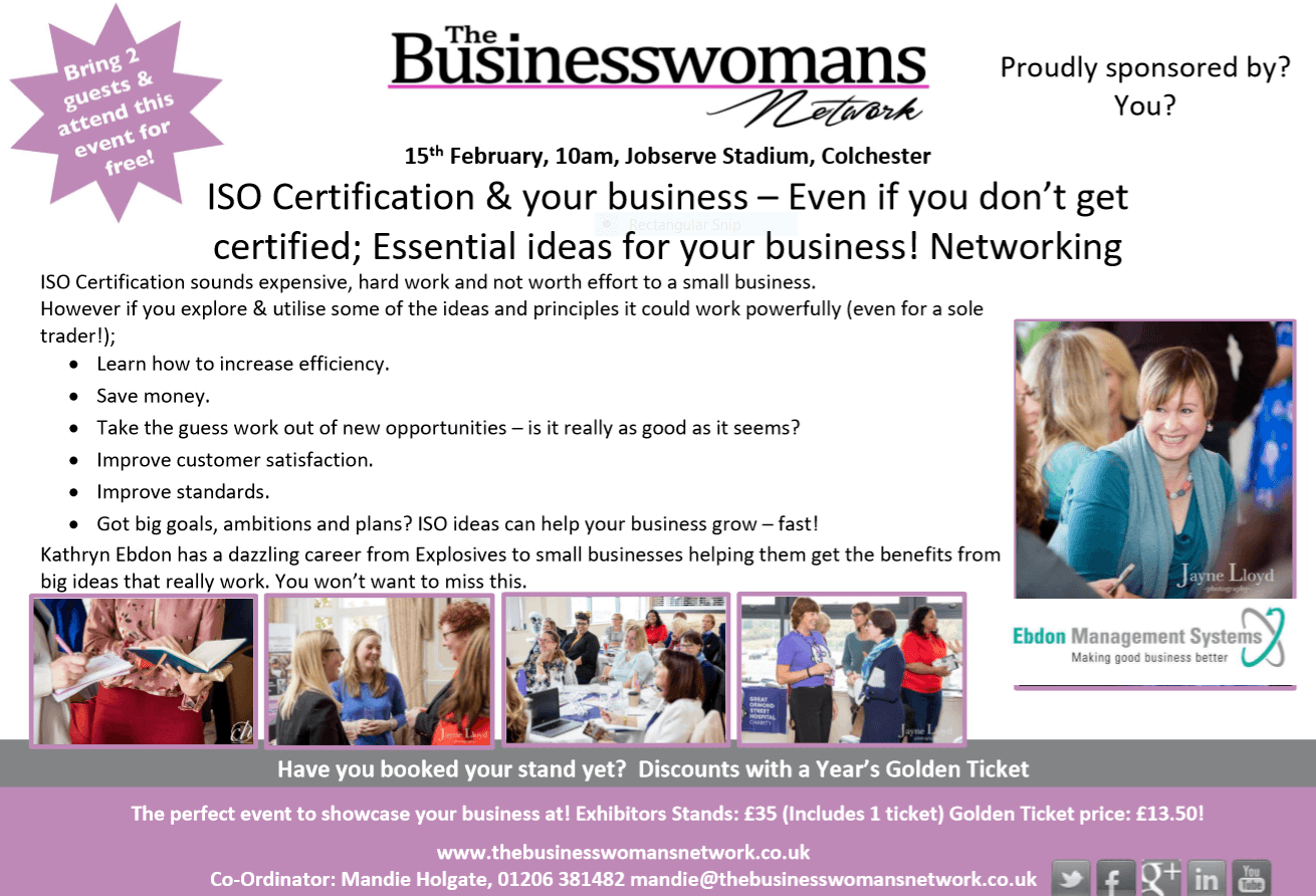 1st May 2019 - ISO and small business Braintree BWN networking essex