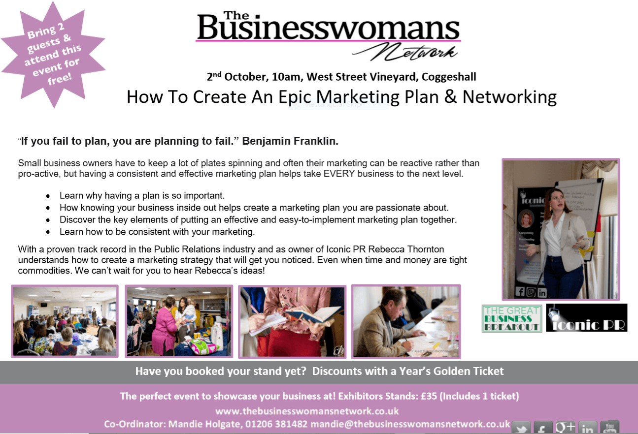 Coggeshall networking and business growth marketing rebecca thornton