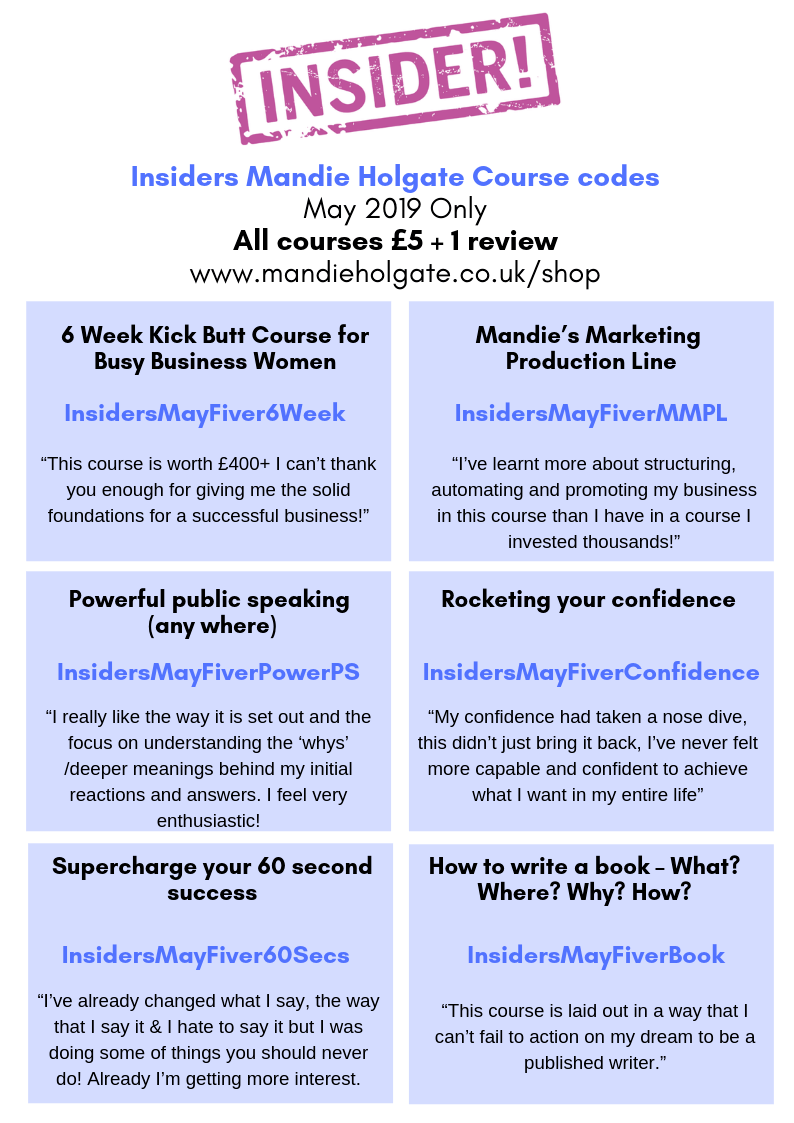 Insiders discount codes May 2019