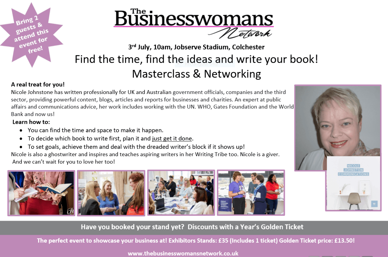 3rd July Nicole Johnstone Coggeshall BWN Networking Essex