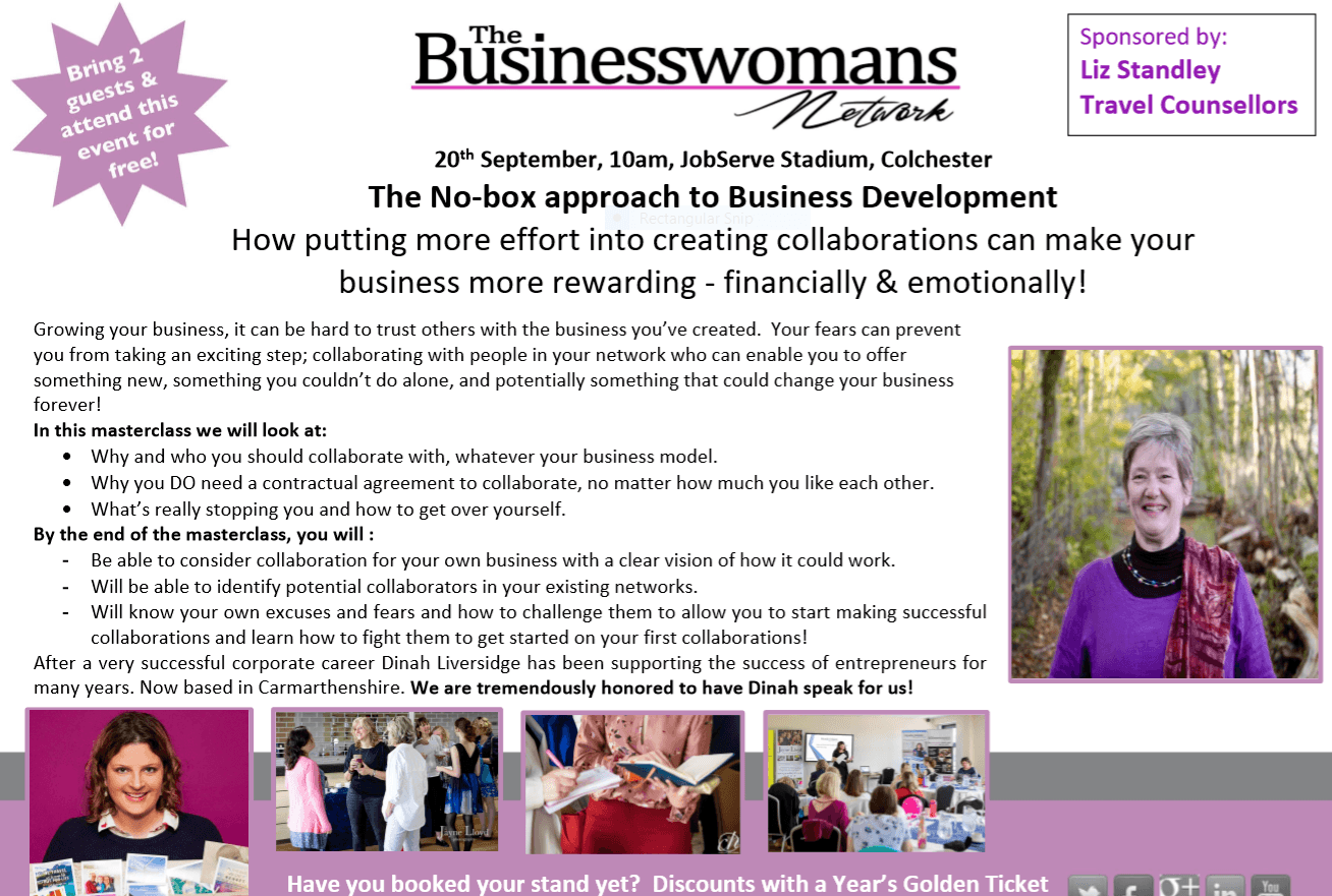 0th Sept Dinah Liversidge colchester. BWN networking