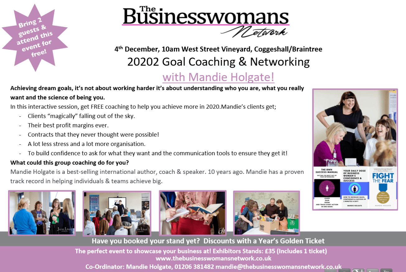 achieving your business goals and networking essex for women in business