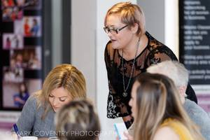 Nadine Gamble networking at the Tendring BWN in Essex helping women in business