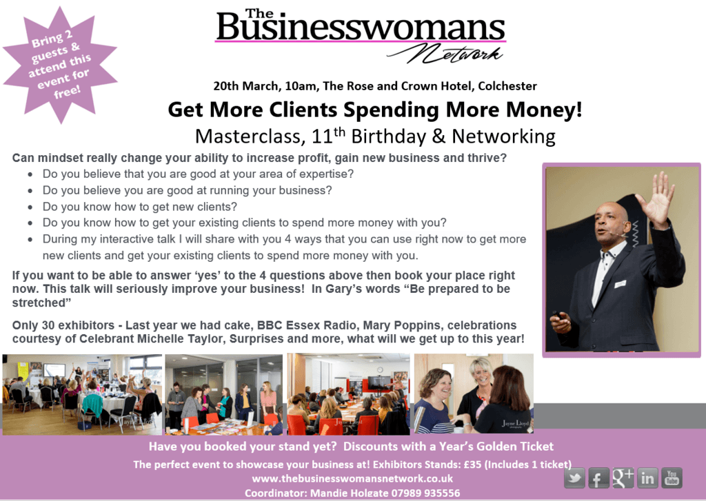 The Business Womans Network has lots of ways to support your business this March including our 11th birthday event.